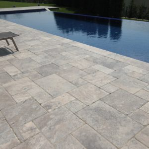 Silver Travertine Distressed Edge